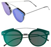 Spitfire Women's Trip Hop 2 55Mm Sunglasses - Black/ Green Mirror