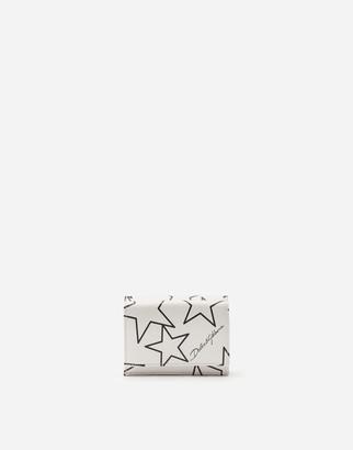 Dolce & Gabbana Small Mixed Star Dauphine Calfskin Continental Wallet