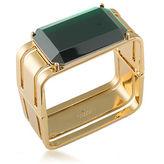 Trina Turk Cabaret Emerald-Cut Stone Goldtone Brass Rectangle Cuff Bracelet