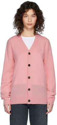 Acne Studios Pink Patch Cardigan