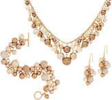 Carolee Madison Avenue Simulated Multi-color Shaky Pearl Set