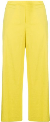 Theory Wide-Leg Cropped Trousers
