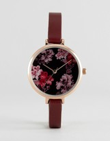 Asos Pretty Floral Dial Detail Watch