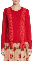 Simone Rocha Women's Felted Plait Merino, Silk & Cashmere Button Cardigan