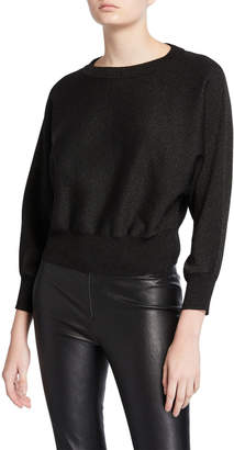 Alice + Olivia Maire Dolman-Sleeve Cropped Pullover