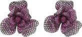 WENDY YUE Pink Sapphire Flower Earrings