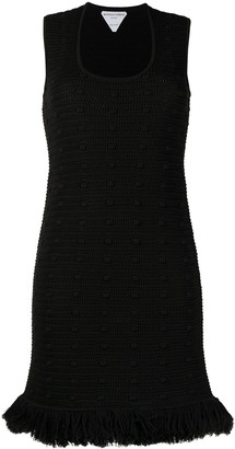 Bottega Veneta Compact Pom Pom mini dress