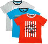 Armani Junior pack of three logo print T-shirts