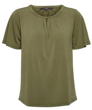 Dorothy Perkins Womens Vero Moda Green Keyhole Top, Green