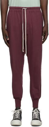 Rick Owens Burgundy Level Lounge Pants