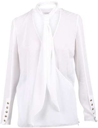 Givenchy Neck Tie Blouse