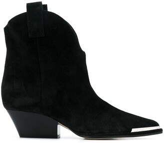 Sergio Rossi Metal Toe-Cap Ankle Boots