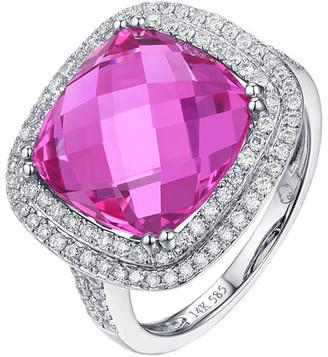 Diana M Fine Jewelry 14K 10.74 Ct. Tw. Diamond & Pink Topaz Ring