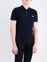 Burberry Metal logo- appliquéd cotton-piqué polo shirt