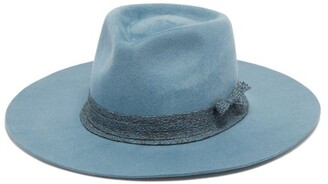 Ruslan Baginskiy Woven-trim Felt Fedora Hat - Blue