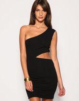 ASOS Cut Out One Shoulder Body-Conscious Dress