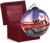"Precious Moments 7161103 Christmas Gifts, ""Santa's Sportscar"" Artist Dona Gelsinger, Petite Round-Shaped Glass Ornament"