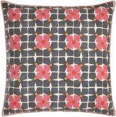 "John Robshaw Harbar Floral Grid Block Print Pillow, 26""Sq."