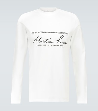 Martine Rose Logo printed long-sleeved T-shirt