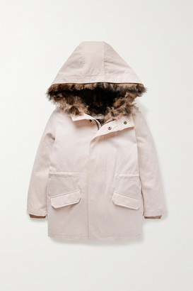 Yves Salomon Kids - Ages 4 - 6 Convertible Cotton-twill Parka