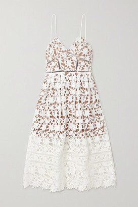 Self-Portrait Self Portrait Azaelea Guipure Lace Dress - Ivory