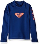 Roxy Little Girls' Whole Hearted Long Sleeve Rashguard