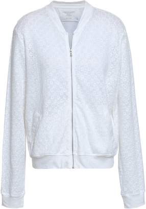 Majestic Filatures Broderie Anglaise Linen Bomber Jacket