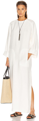Saint Laurent Caftan Dress in Craie | FWRD
