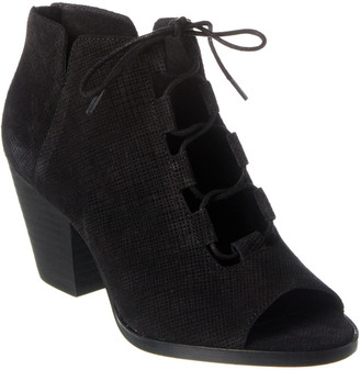 Eileen Fisher Fallon Open Toe Suede Bootie