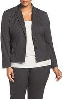 Halogen R) Ministripe Stretch Suit Jacket (Plus Size)