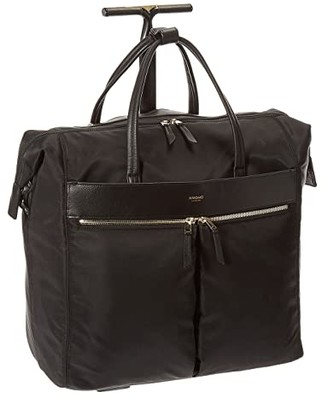 Knomo London Mayfair Sedley Boarding Tote (Black) Tote Handbags