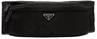 Prada Logo Nylon Belt Bag - Mens - Black