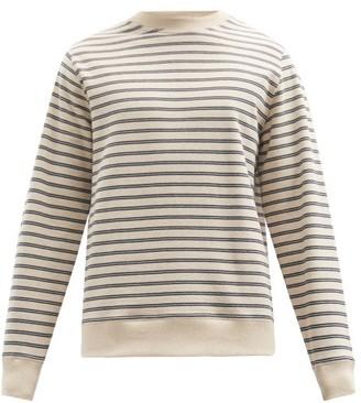 Oliver Spencer Robin Striped Cotton-blend Jersey Sweater - Navy Multi