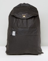 Barbour Helm Waxed Backpack Olive