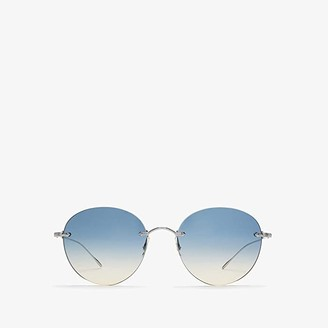 Oliver Peoples Coleina (Silver/Sunrise Gradient Lens) Fashion Sunglasses