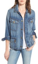 Current/Elliott Women's The Updated Slant Pocket Denim Military Jacket