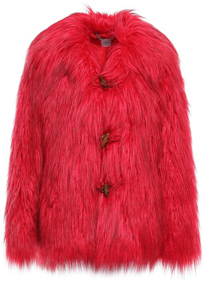 Opening Ceremony Faux Fur Coat