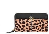 Tory Burch Ivy Leopard Zip Continental Wallet