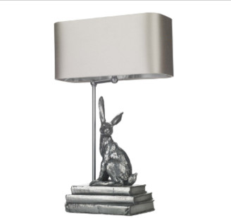 David Hunt lighting - Metal Antique Pewter Base Hopper Table Lamp - metal