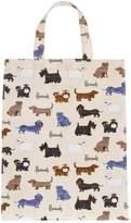 Harrods Walking Dogs Medium Shopper Bag