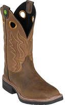 "John Deere Men's Boots 12"" Western Broad Square Toe Pull-On 5214"