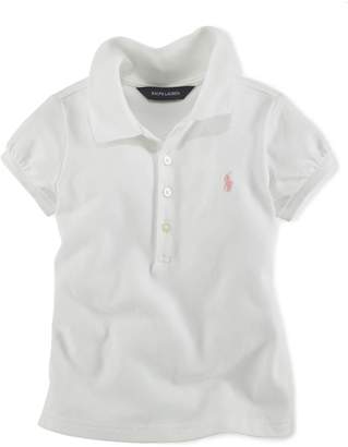 Ralph Lauren Childrenswear Little Girl's Basic Mesh Polo