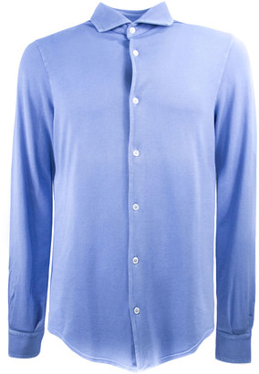 Fedeli Light Blue Cotton Polo Shirt