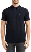 Hugo Boss Boss Orange Plainer Slub Polo Shirt, Dark Blue