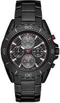 Michael Kors Men's Chronograph JetMaster Carbon Fiber Stainless Steel Bracelet Watch 43mm MK8455