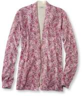 L.L. Bean Women's Premium Supima Cotton Sweater, Open Cardigan Paisley
