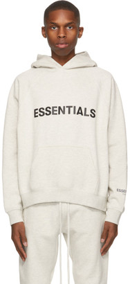 Essentials Grey Pullover Logo Hoodie