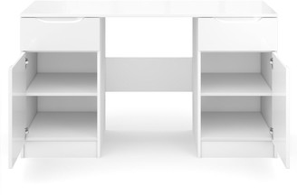 Bilbao Ready Assembled High Gloss Desk - White