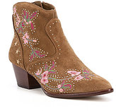 Gianni Bini Ramsie Western Floral Embroidered Booties