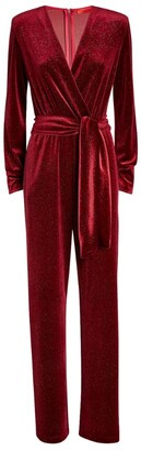 Max & Co. Glitter Velvet Jumpsuit